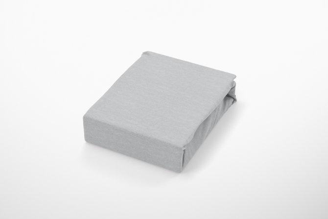 Plahta Jersey s gumicom - Siva