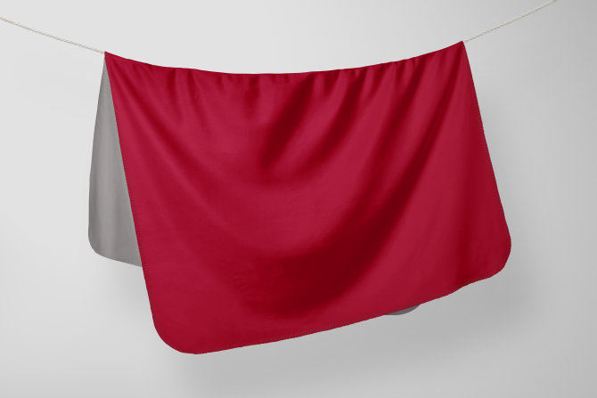 Deka Flis Elegance Crvena