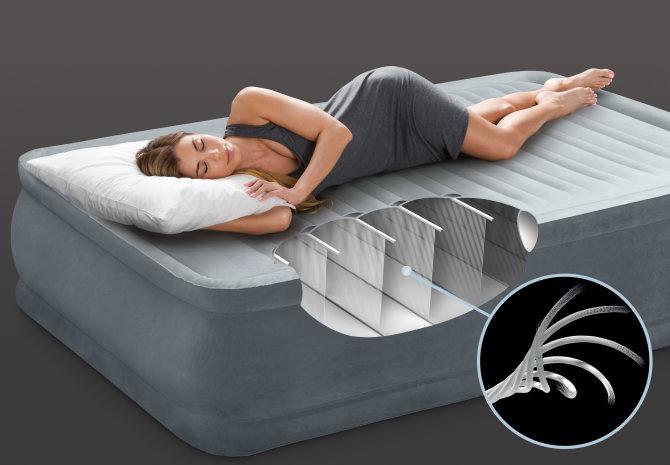 Intex zračni krevet Dura-Beam elevated queen sa ugrađenom pumpom